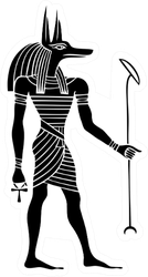 Anubis A God Of Ancient Egypt Sticker