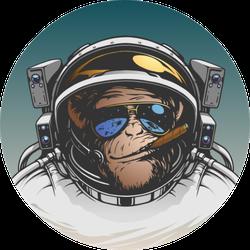 Ape Astronaut Illustration Sticker