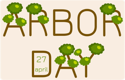 April 27th Arbor Day Sticker