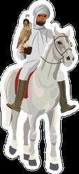 Arab Man on Horseback Sticker