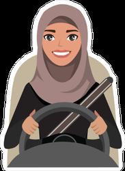 Arab Woman Driving Car Sticker