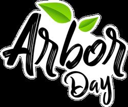 Arbor Day Calligraphy Sticker