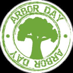 Arbor Day Green Circle Sticker