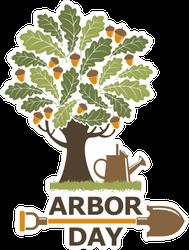 Arbor Day Illustration Sticker