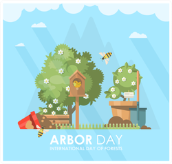 Arbor Day International Day of Forests Sticker