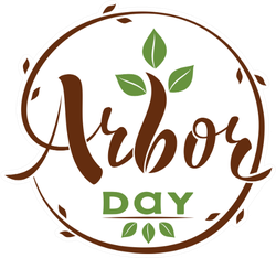 Arbor Day Leaves Circle Sticker
