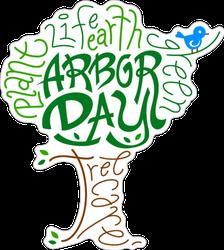 Arbor Day Text Illustration Sticker