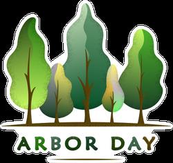 Arbor Day Wavy Forest Sticker