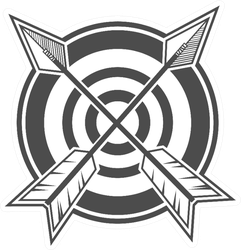 Archery Design Concept Target And Arrows Sticker