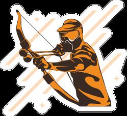 Archery Sport Wallpaper Design Sticker