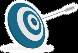 Archery Target Blue Art Sticker