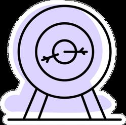 Archery With Purple Shadow Sticker