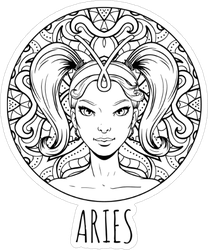 Aries Artwork Sticker