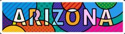 Arizona, American State Text Pop Art Sticker