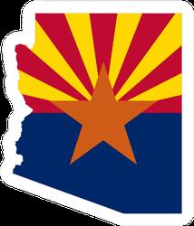 Arizona Flag Map Sticker