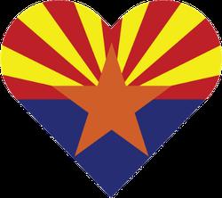 Arizona Heart Shape Sticker