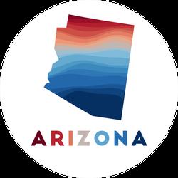 Arizona Map Beautiful Gradient Sticker