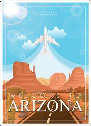 Arizona Plane Flying Illustration Sticker