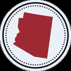 Arizona Round Stamp State Map Sticker