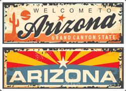 Arizona State Retro Designs Welcome To Arizona Sticker