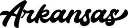 Arkansas Hand-Drawn Script Sticker
