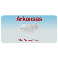 Arkansas License Plate The Natural State Diamond Sticker