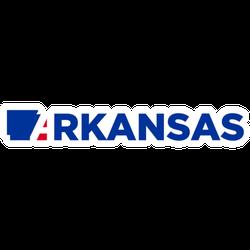 Arkansas Map Lettering Sticker
