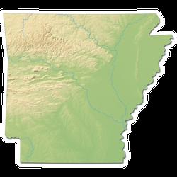 Arkansas Map (united States) - 3d-rendering Sticker