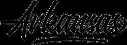 Arkansas Script Sticker
