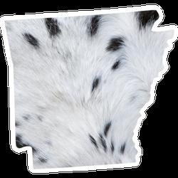 Arkansas State Map Cool Pattern Sticker