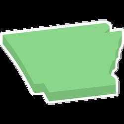 Arkansas State Usa Isometric Map Sticker