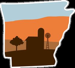 Arkansas State With Farm Sticker