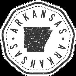 Arkansas, Usa Map Stamp Retro Sticker