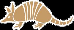 Armadillo Animal Icon In Tan