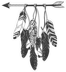 Arrow And Feathers Talisman Sticker