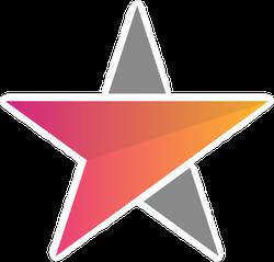Arrow and Star Sticker