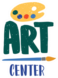 Art Center Illustration Sticker