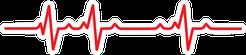Art Design Health Medical Heartbeat Pulse Sticker
