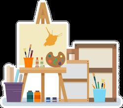 Artist Art Studio Interior Sticker