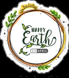 Artistic Earth Day Sticker