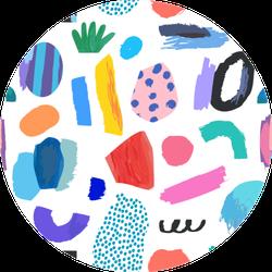 Artistic Universal Background Colorful Pattern Sticker