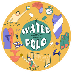 Artistic Water Polo Logo Sticker