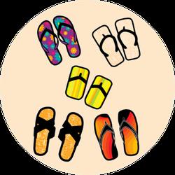 Assorted Flip-flops Sticker