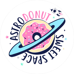 Astrodonut Sweet Space Sticker