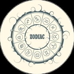 Astrological Symbols Sticker