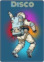 Astronaut Dancing Disco Sticker