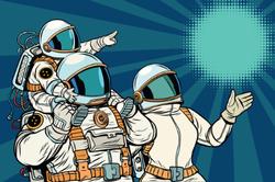 Astronaut Family Sticker