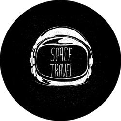 Astronaut Helmet Space Travel Sticker