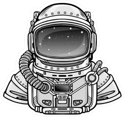 Astronaut In A Space Suit Sticker