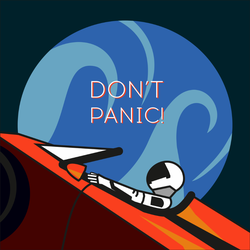 Astronaut In Space Dont Panic Sticker
